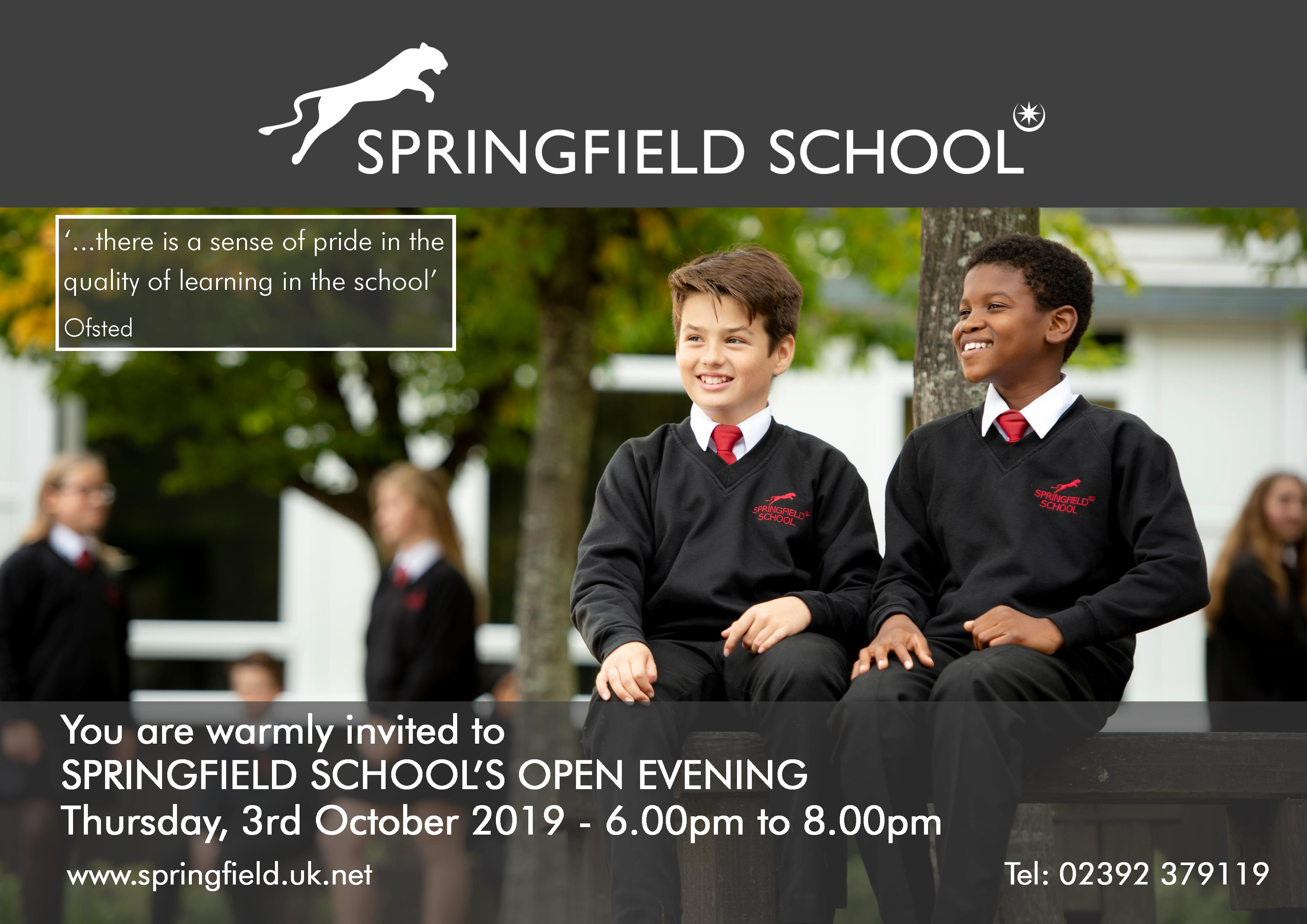 Open Evening Out of Catchment Flyer