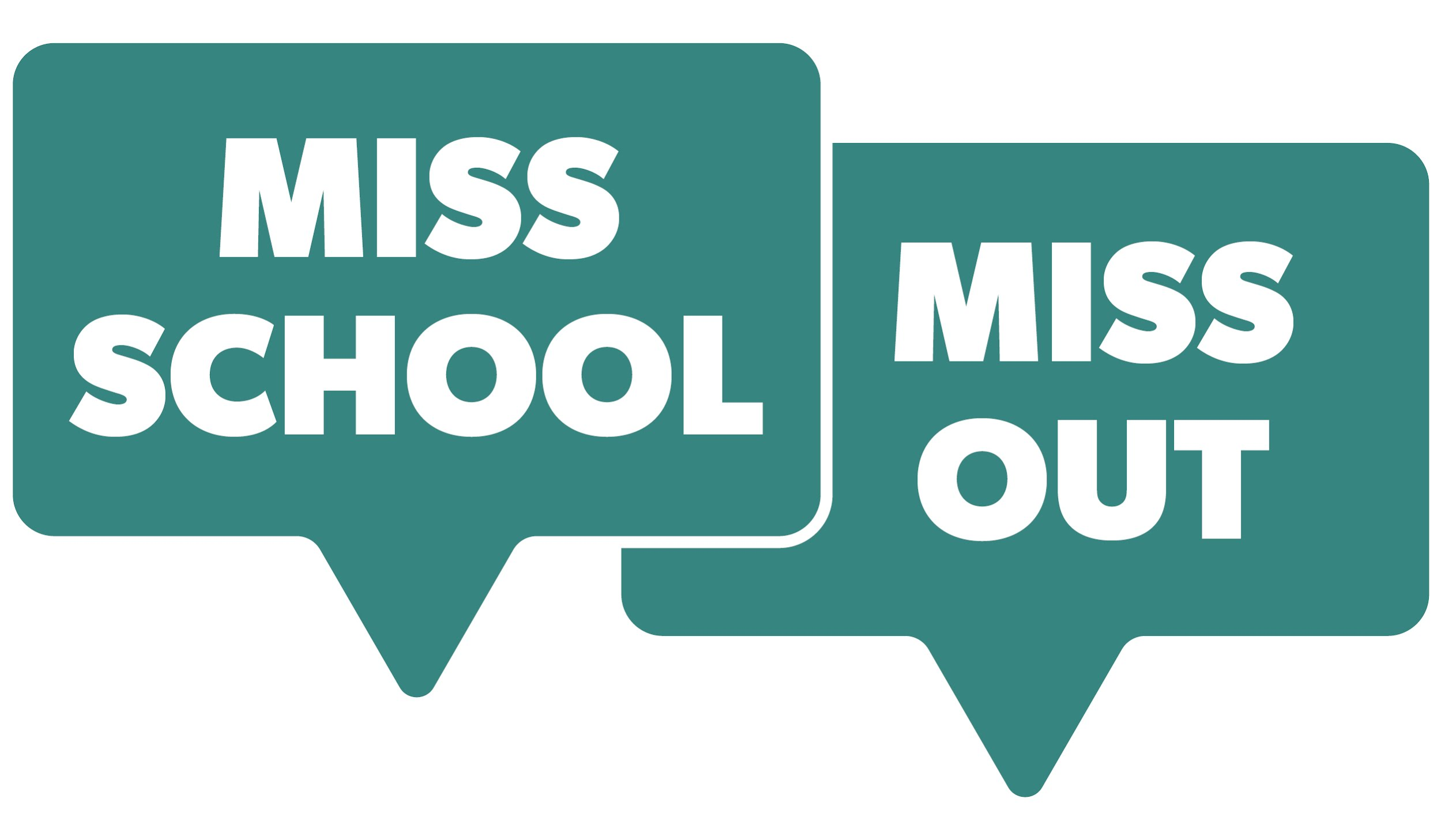 MISS SCHOOL MISS OUT LOGO